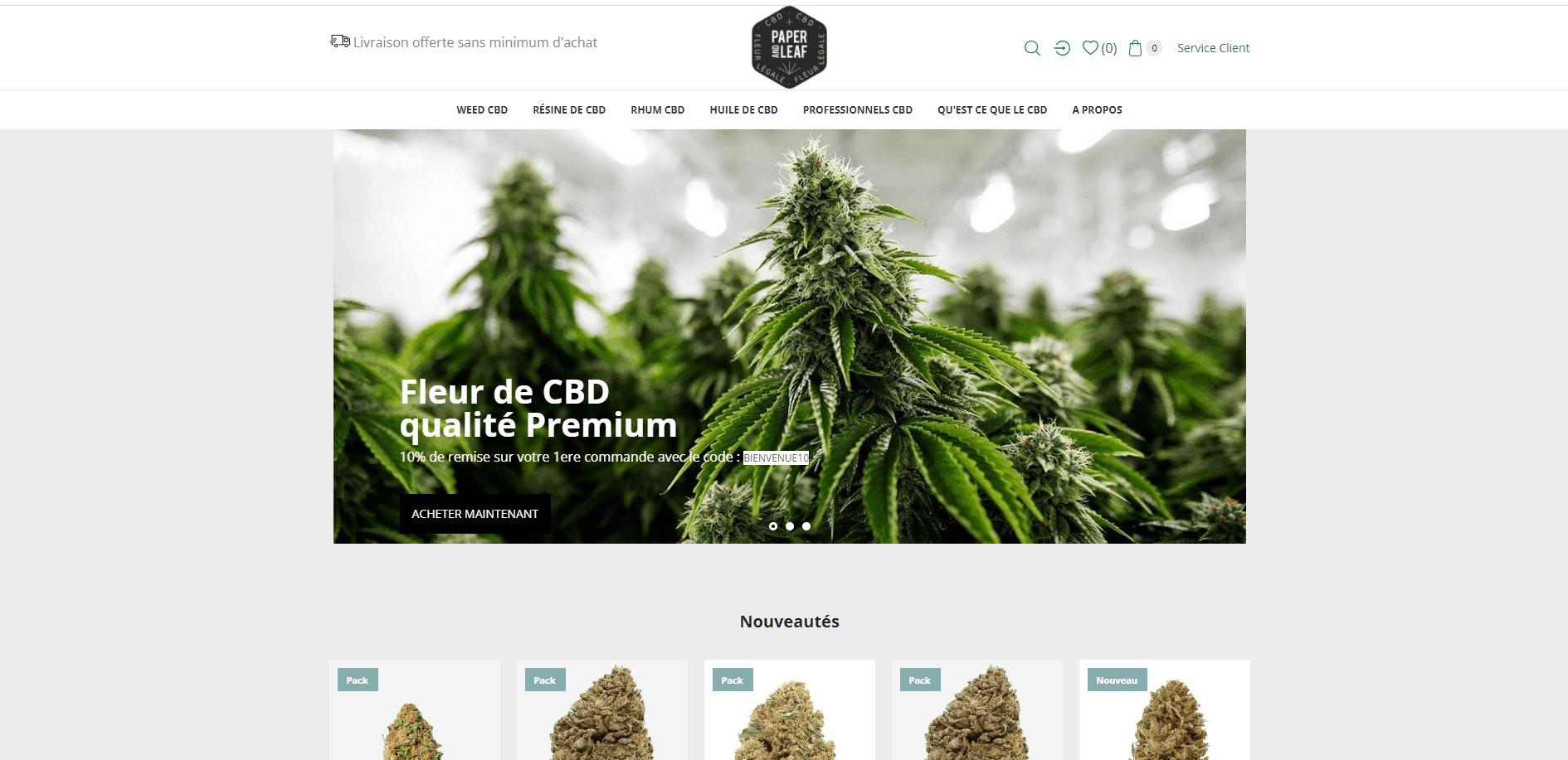 Site internet Paris Lyon - référencement naturel SEO, plants de CBD